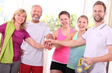 Spass im Fitnessstudio